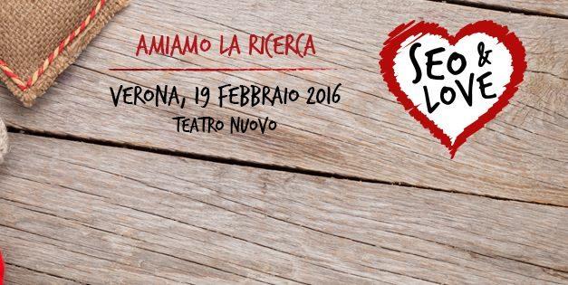 -2 al #SEOandLove. Ci vediamo a Verona?