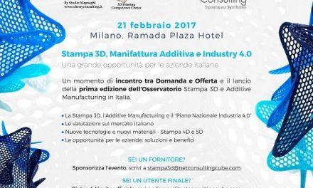 #OsservatorioStampa3D: appuntamento a Milano il 21 febbraio